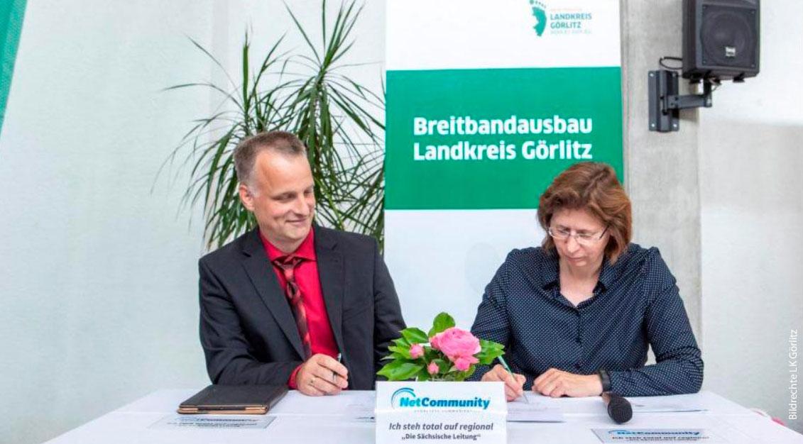 Startschuss zum geförderten Breitbandausbau im Landkreis Görlitz