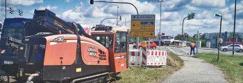 Glasfaserausbau Unterbohrung Bundesstraße 115